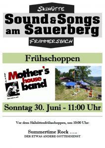 Sound & Songs Skihütte - Plakat für 2019-06-30 Frühschoppen
