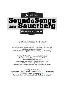 Sound & Songs am Sauerberg