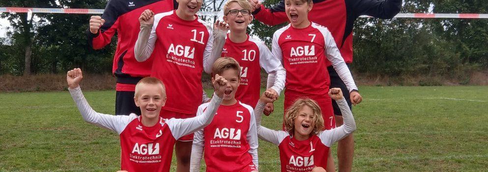 Frammersbacher Faustball Minis landen im hohen Norden auf Platz 14